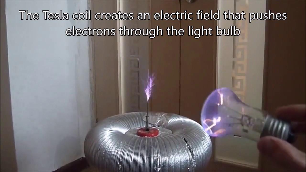 tesla coil mario bros light bulb youtube