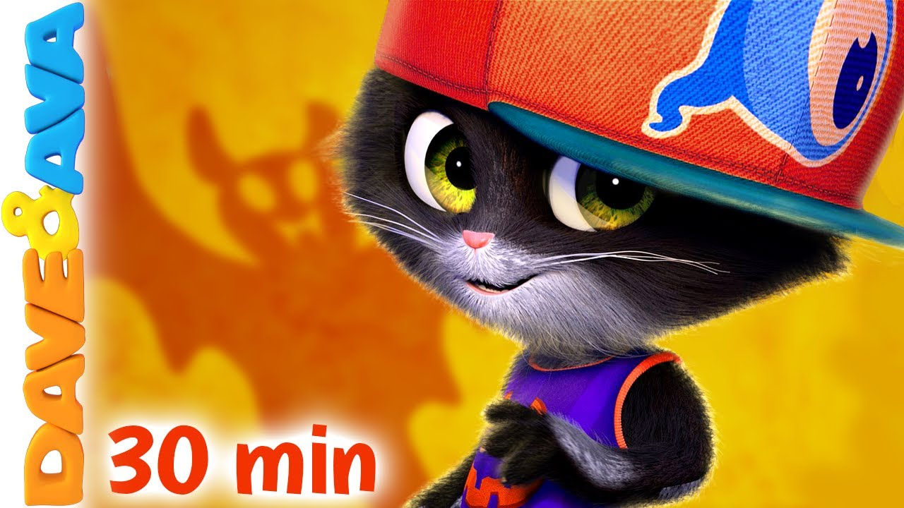 👾 Five Little Kittens   Nursery Rhymes & Halloween Songs   Baby Songs by Dave and Ava 👾