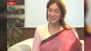 Swiss lady speaking sanskrit