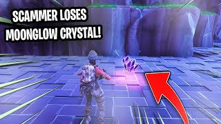 Psycho Scammer Has Moon Glow Crystal! (Scammer Gets Scammed) Fortnite Save The World