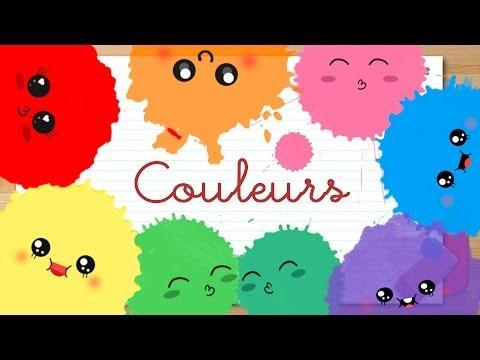 COLORES en FRANCÉS para niños - Vídeos educativos para niños