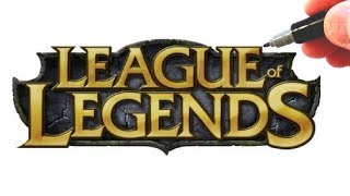 How to Draw the LEAGUE of LEGENDS Logo