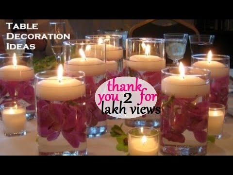 DIY Centerpiece Ideas For Party Tables   Banquet Candle Decoration