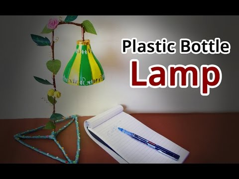 Recycled craft ideas how to make lampshade from plastic for Craft using waste bottles