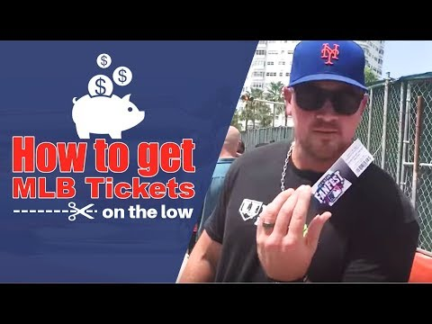 How To Buy MLB Tickets On The Low!