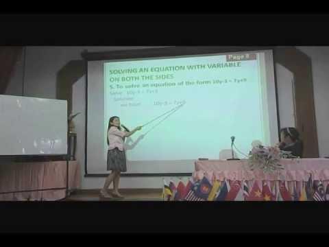 2556-07-09 สอนคณิตศาสตร์เป็นภาษาอังกฤษ โรงเรียนขุขันธ์ กลุ่มที่ 2