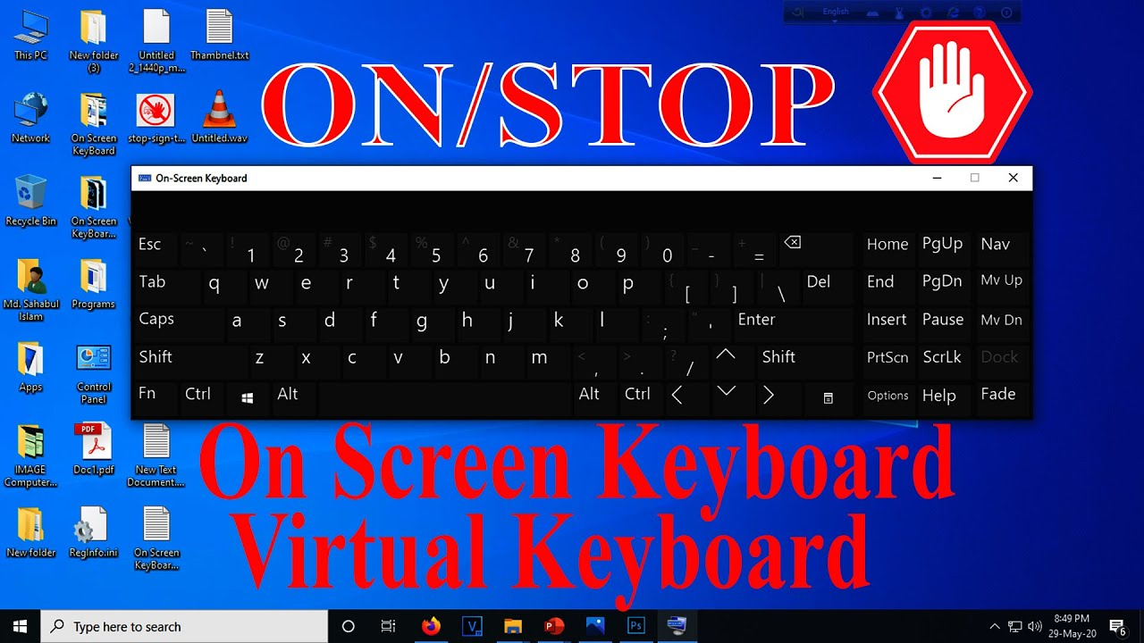 How to Remove On screen Keyboard On Start up Windows | pop up keyboard windows 10 - YouTube