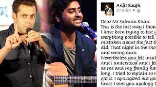 Arijit Singh PUBLICLY  APOLOGISES To Salman Khan