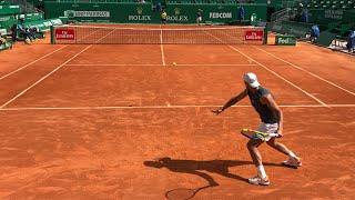 Rafael Nadal - Pablo Cuevas Practice @ Rolex Monte-Carlo Masters 2018