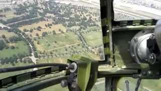 B-25 Miss Mitchell flyover of Fort Snelling National Cemetery
