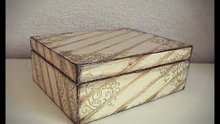 How to decorate a wooden box decoupage