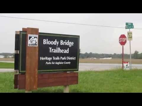 Welcome to the Bloody Bridge Memorial on the Miami and Erie Canal in Rural, Ohio