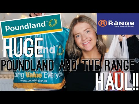 HUGE POUNDLAND & THE RANGE HAUL! | SEPTEMBER 2019 | HARRIET MILLS