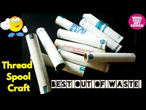 Best use of waste thread empty roll idea #DIY arts and crafts #craft project #DIY Decoration idea
