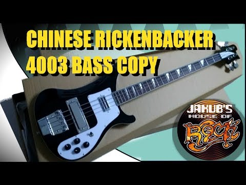 Chinese Rickenbacker 4003 Bass Copy Review and Demo