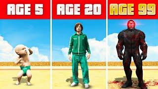 SURVIVING 99 YEARS of SQUID GAME in GTA 5! (GTA 5 Mods)