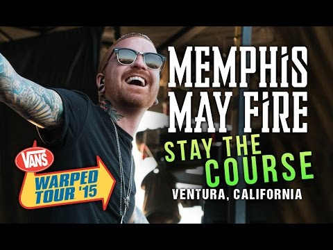 "Memphis May Fire - ""Stay The Course"" **NEW SONG** LIVE! Vans Warped Tour 2015"