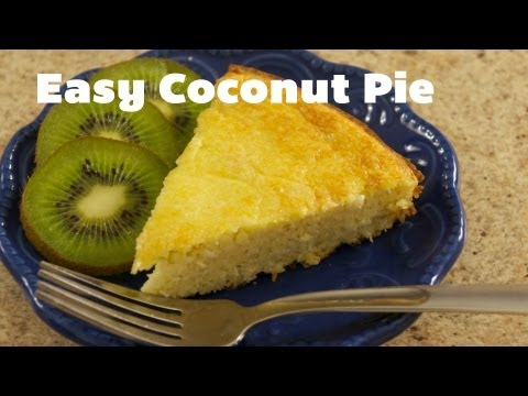 Coconut Flour Pie, Low Carb, Gluten Free, Wheat Free