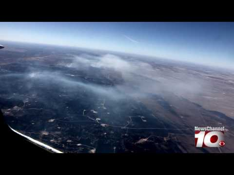 AERIAL FOOTAGE of fires burning in Texas Panhandle