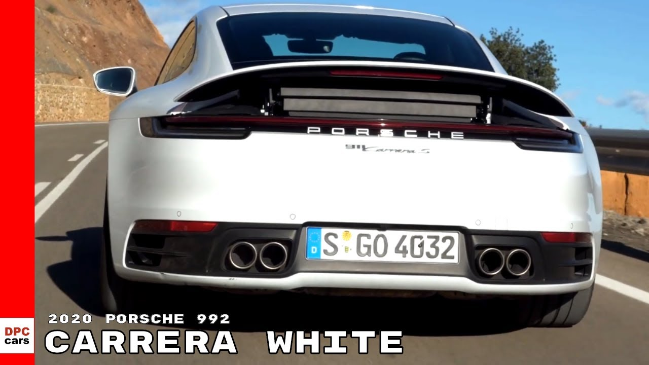 2020 Porsche 992 911 Carrera S In Carrera White Youtube
