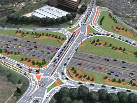 Ashford Dunwoody and Interstate 285 Diverging Diamond Interchange Visualization