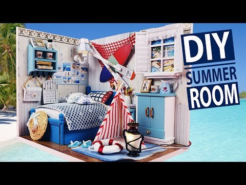 DIY Miniature Bedroom Summer Romance Wood Dollhouse Miniature ( With Full Furniture & Light )