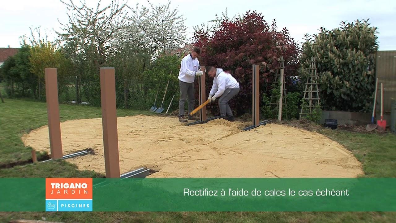 Comment installer une piscine hors sol - Installation des jambes de force  (Étape 9/9)