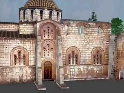 Dafni Monastery Virtual Visit - YouTube