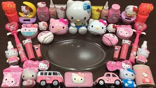 Special Series Pink Hello Kitty Slime | Mixing Too Many Things into Fluffy Slime | Satisfying Slime