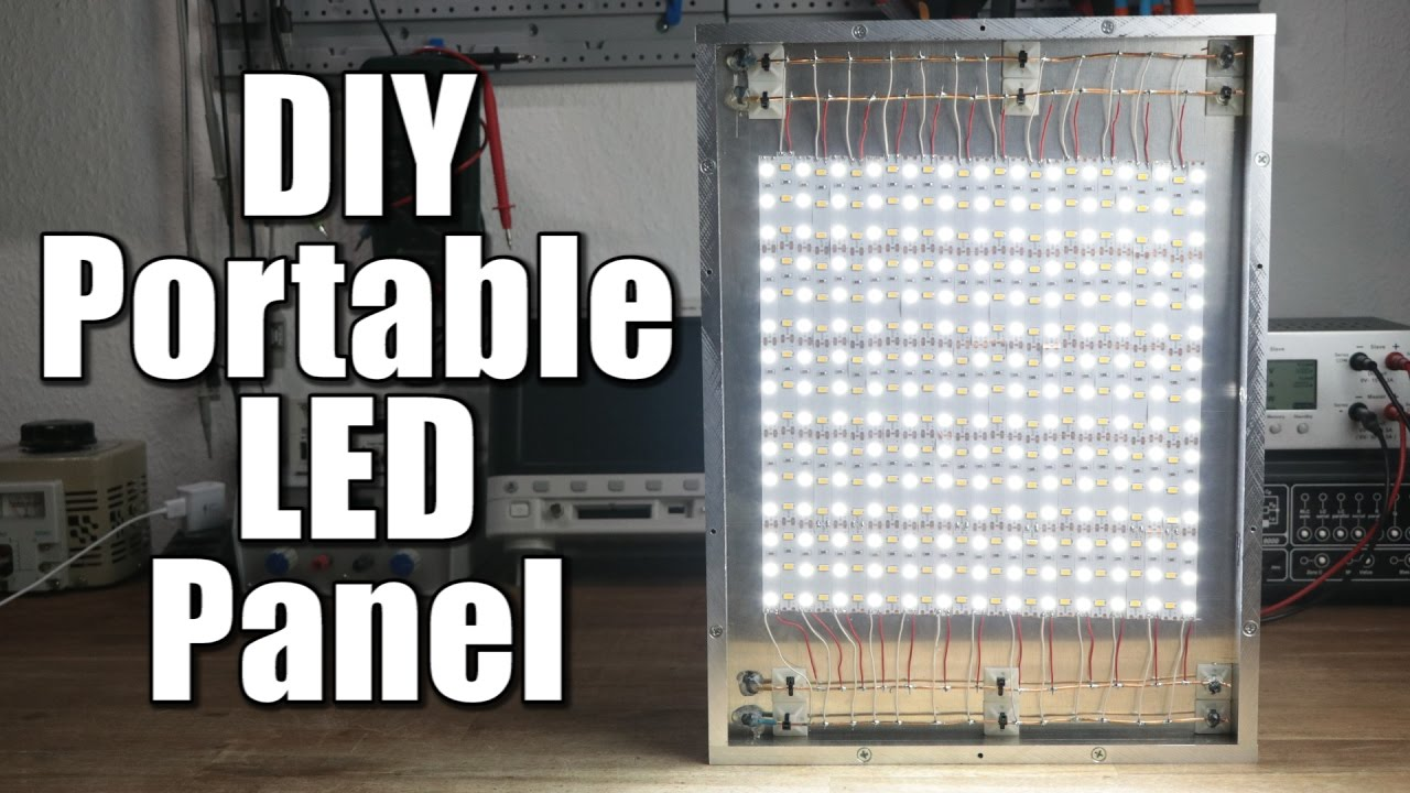 diy portable led panel part 1 the mechanical build youtube. Black Bedroom Furniture Sets. Home Design Ideas