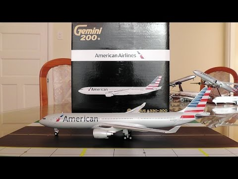 Gemini Jets 1:200 American Airlines A330-300 Unboxing And Review