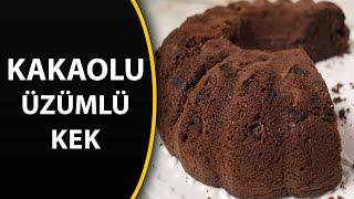 Kakaolu üzümlü kek tarifi - kek tarifleri