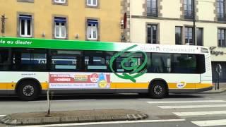 Passage du HeuliezBus GX317 n°330 du réseau QUB