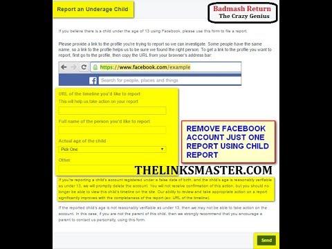 Remove someone facebook fake account permanently in one report remove someone facebook fake account permanently in one report report an underage child facebook ccuart Images