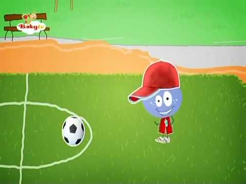BabyTV Stick with Mick Mick plays football english