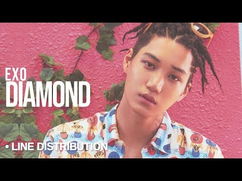 EXO (엑소) - Diamond : Line Distribution (Color Coded)