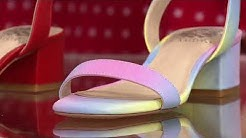 Vince Camuto Leather Heeled Sandals - Jantta on QVC