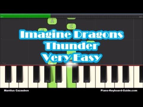 imagine-dragons-thunder-right-hand-slow-very-easy-piano-keyboard-tutorial