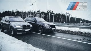 BMW X5M vs BMW X5 50i, гонка на тюнинге