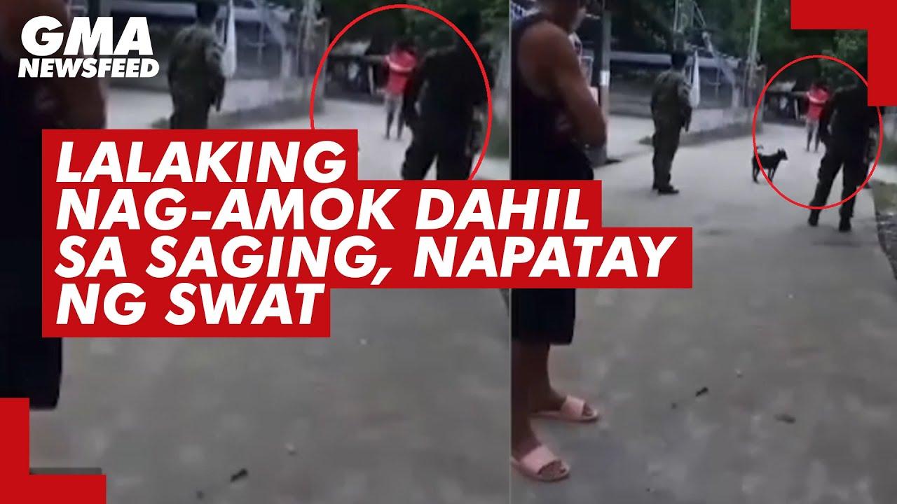Download Lalaking nag-amok dahil sa saging, napatay ng SWAT | GMA News Feed