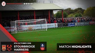 Match Highlights: Stourbridge 3-2 Harriers 06/10/18