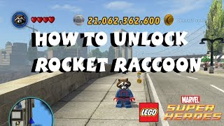 How to Unlock Rocket Raccoon - Lego Marvel Super Heroes Guardians of the Galaxy