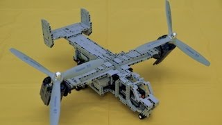 Lego Bell-Boeing V-22 Osprey the first try ends with crash
