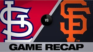 Slater, Sandoval lead charge in 8-4 win | Cardinals-Giants Game Highlights 7/6/19