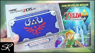 New Nintendo 2DS XL Hylian Shield Edition Unboxing & First Look!
