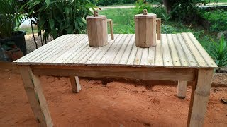 How to make a bamboo Table.