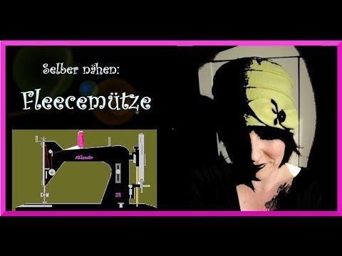 Selber nähen : Mütze / Hut aus Fleece - YouTube