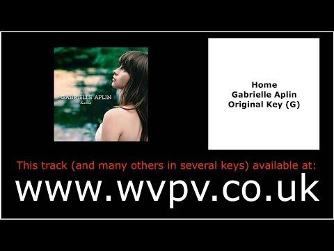 Home by Gabrielle Aplin (Piano Backing Track) (Karaoke) (Singing Study)
