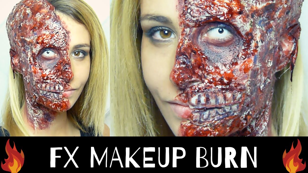 maquillage tutoriel halloween visage br l effets sp ciaux br lure youtube. Black Bedroom Furniture Sets. Home Design Ideas