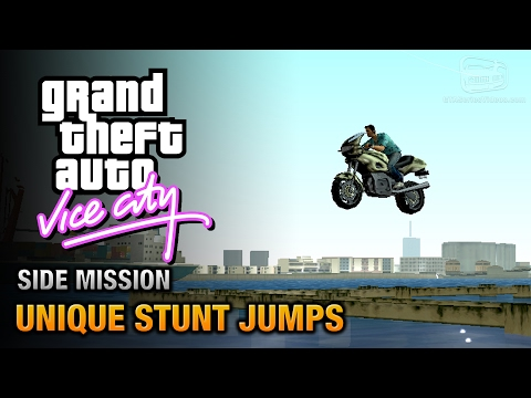 GTA Vice City - Unique Stunt Jumps [Daredevil Trophy / Achievement]